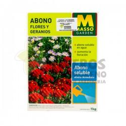 Abono Soluble Flores y Geranios Massó 1KG
