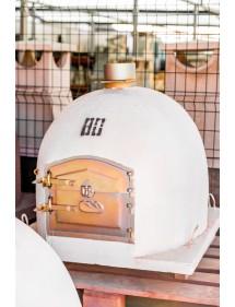 Horno de leña 80x80cm Blanco, corte cuadrado