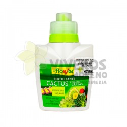 Fertilizante Líquido Cactus y Plantas Crasas Flower 300ML