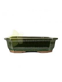 Maceta Esmaltada Verde oscura Rectangular 51cm