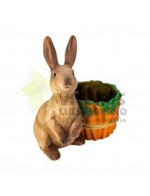 Cubre macetas Conejo con Zanahorias