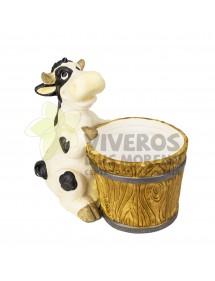 Cubre macetas Vaca con Cubo